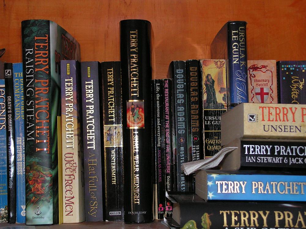 one small piece of bookshelf