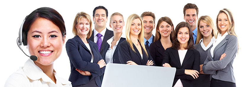 Group fo client services people