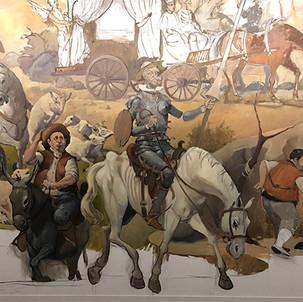 Mural Dom Quixote