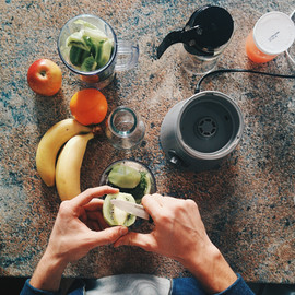 Vorbereiten Fruchtsaft