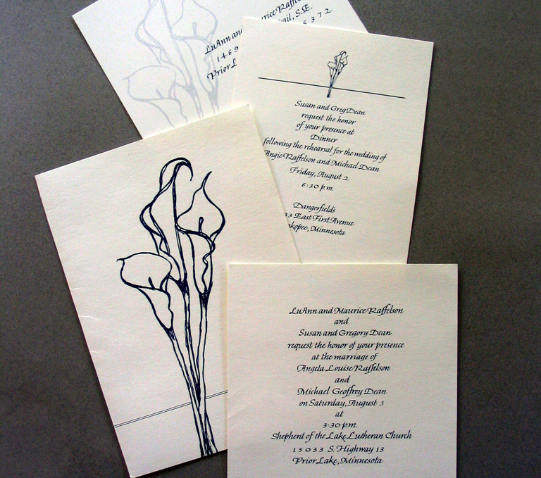 Multi-piece Wedding stationery