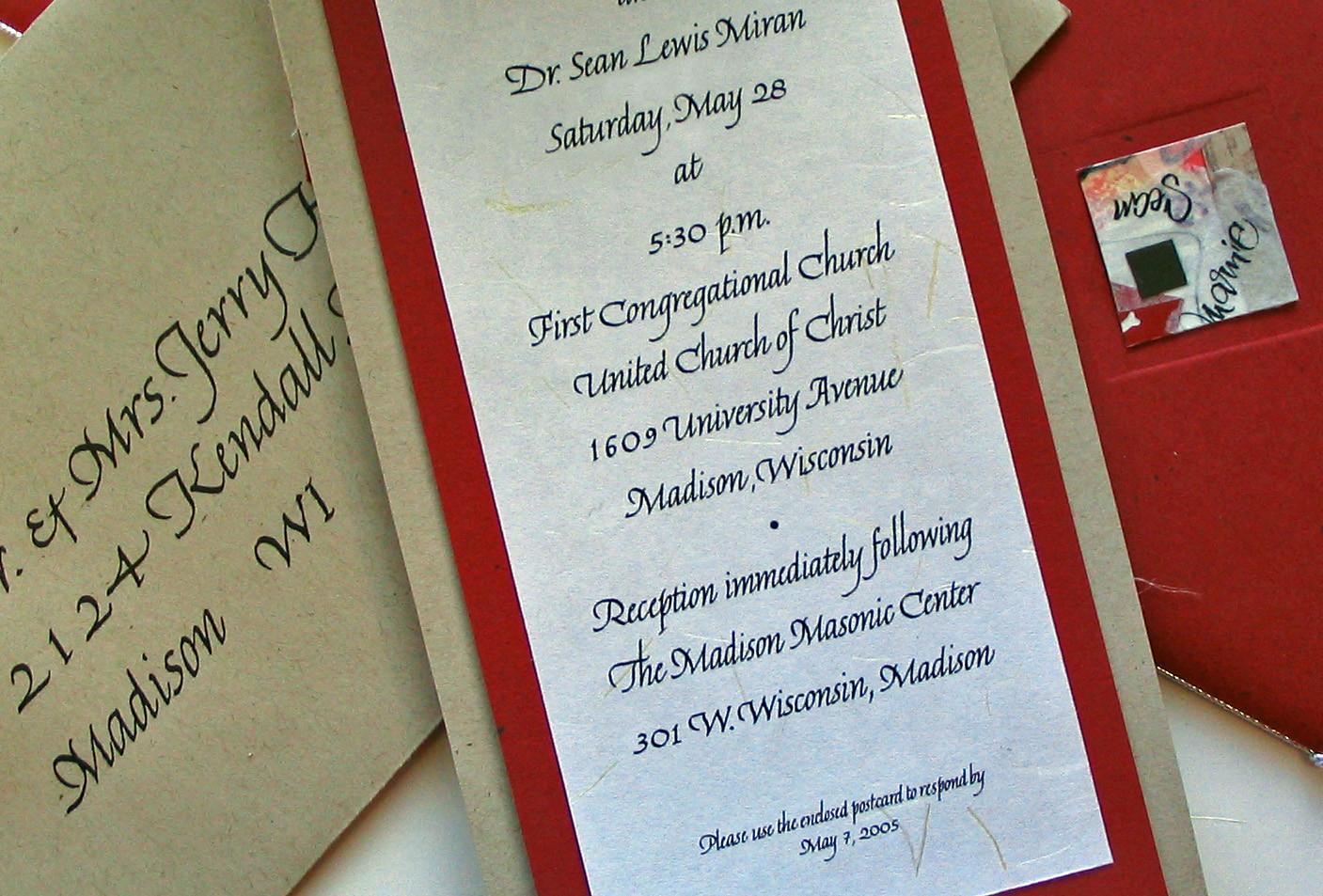 Multi-piece Wedding Invitation