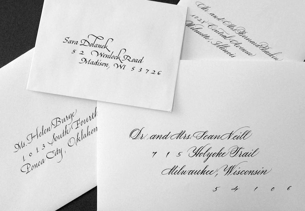 Lettering styles for addressing