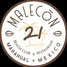 MALECóN 21, Beach Club & Restaurant at Costa Maya, Mahahual. Best Beach Break
