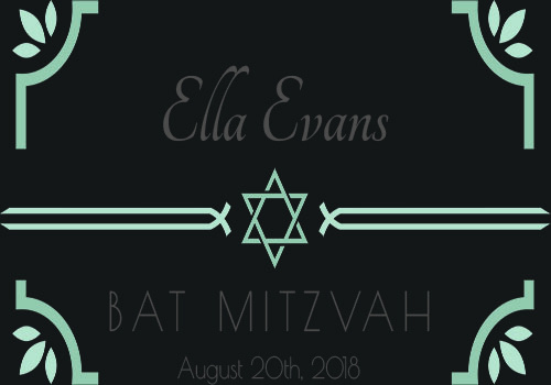 Dark bat-bar mitzvah label