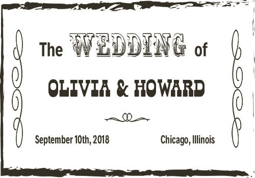 Rustic wedding graphic