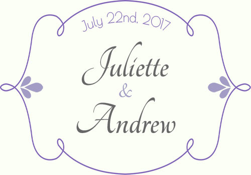Romantic elegant wedding label