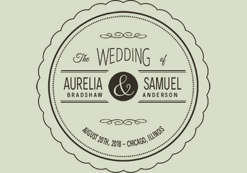 Vintage wedding label
