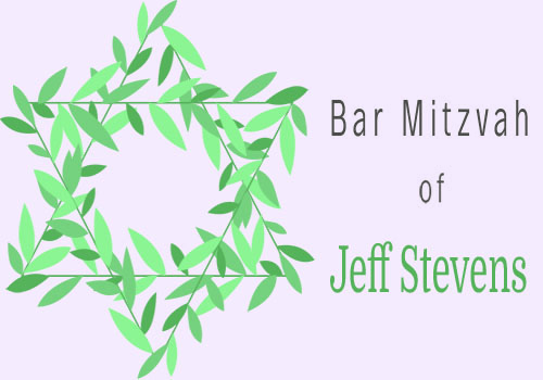Wreath bar mitzvah green