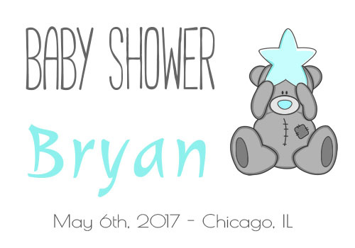 Bear baby shower graphic
