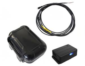 Trakkit GPS Tracker Hardwired Installation Kit: 12V-36V, 15 foot Cable Harness, Magnetic Case