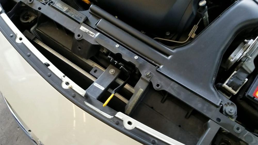 front of radiator is best hidden gps tracker for car