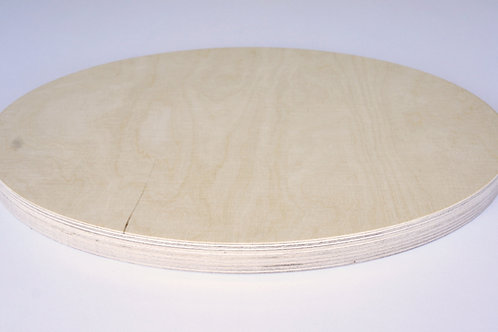 24mm Oval Birch Plywood Panel