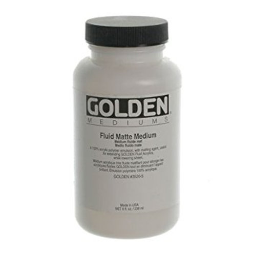 Golden Acrylics Fluid Matte Medium