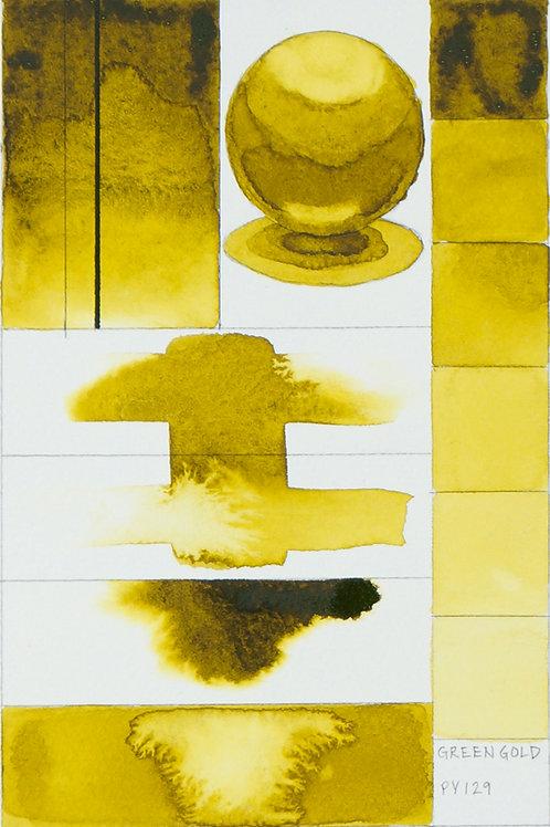 Golden QOR Watercolour - Green Gold
