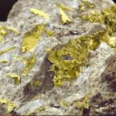 roca con mineral oro para la extranccion y explotacion del mineral