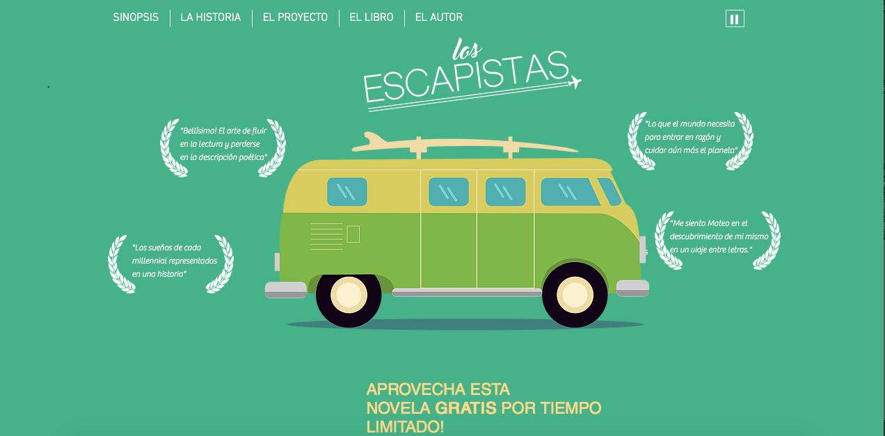 Sitio web para Los Escapistas