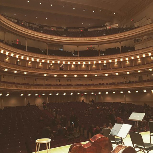 Performing with the American Symphony Orchestra at Carnegie Hall