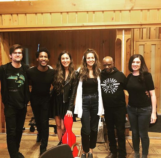 At The Power Station recording strings for Jon Batiste's album, Hollywood Africans