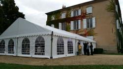 Tente reception 10x15m