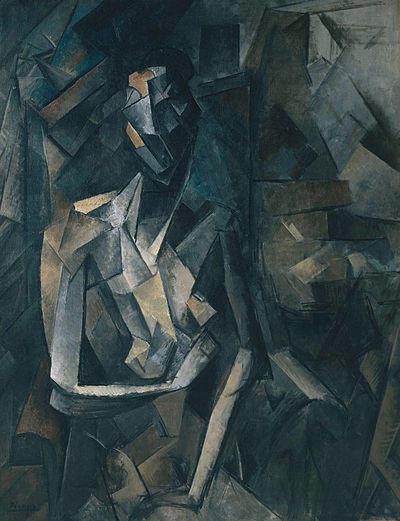 Pablo_Picasso,_1909-10,_Figure_dans_un_F
