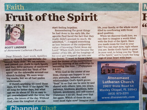 Pastor Scott's latest Wesley Chapel Times article