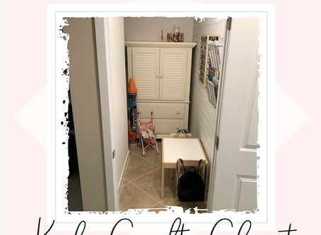 Under The Stairs Kids Craft Closet