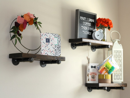 DIY: Industrial Pipe Shelves