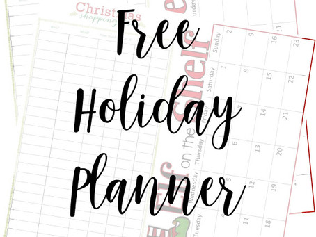 Free Printable Holiday Planning Calendar For 2018