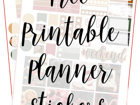 Free Printable Planner Stickers - Christmas