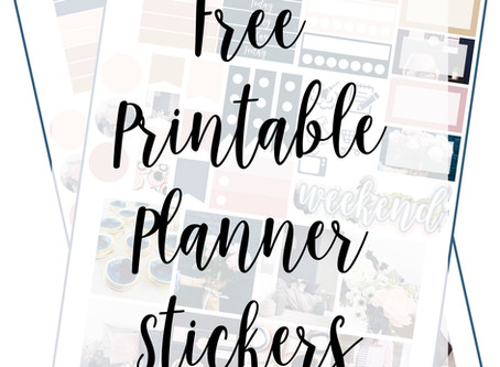 Free Printable Planner Stickers - Navy & Pink