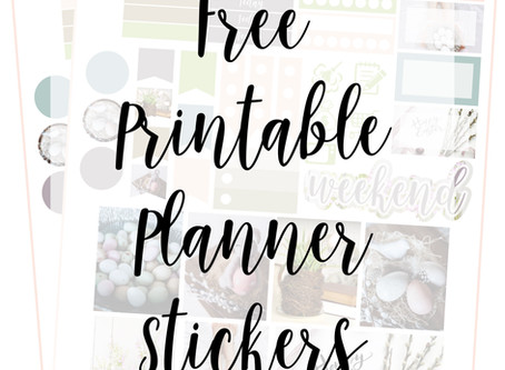 Free Printable Planner Stickers - Easter