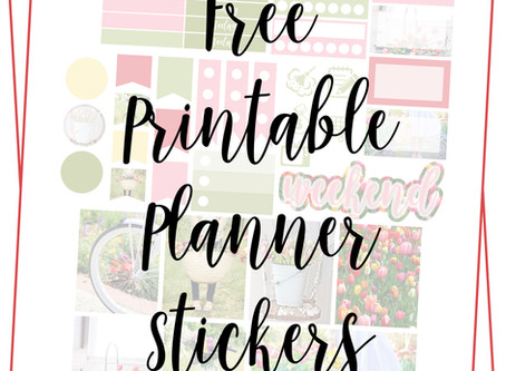 Free Printable Planner Stickers - Spring