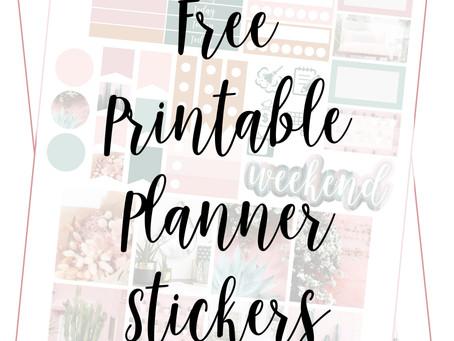Free Printable Planner Stickers - Desert Dream