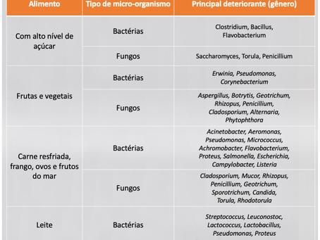 Principais micro-organismos deteriorantes de alimentos