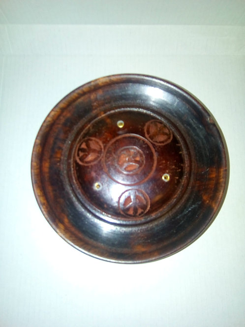 Wooden Incense Holder Plate