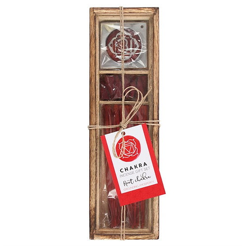 Root Chakra Wooden Incense Gift Set