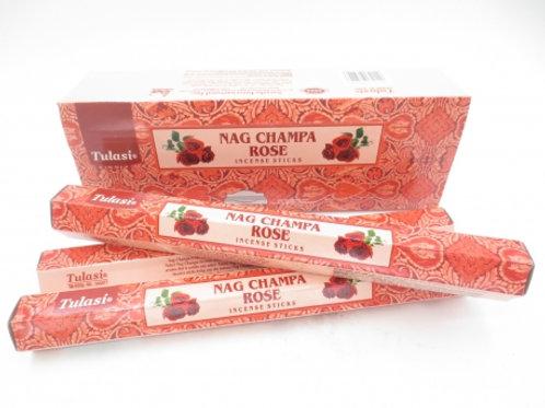 Nag Champa Rose Hexagonal tube