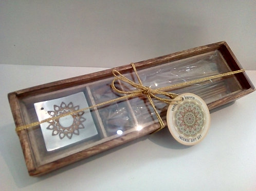 Karma Vanilla Incense gift set in wooden box