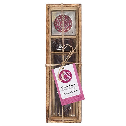 Crown Chakra Wooden Incense Gift Set.
