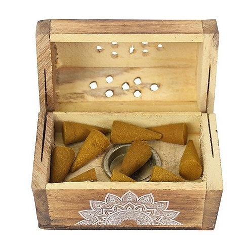 Karma Sandalwood Incense Cone Wooden