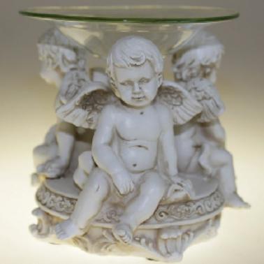 Cherub Watching Oil Burner with Glass bowl