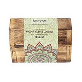 Karma Jasmine Incense Cone Wooden Set