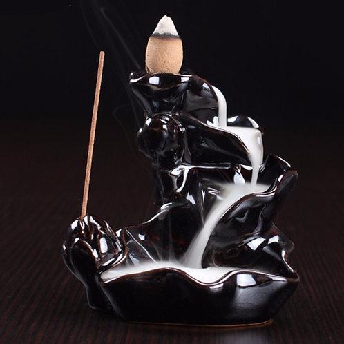 Black Ceramic Backflow Incense Burner