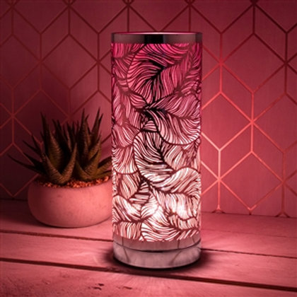 Pink Leaf Touch Sensitive Aroma Lamp