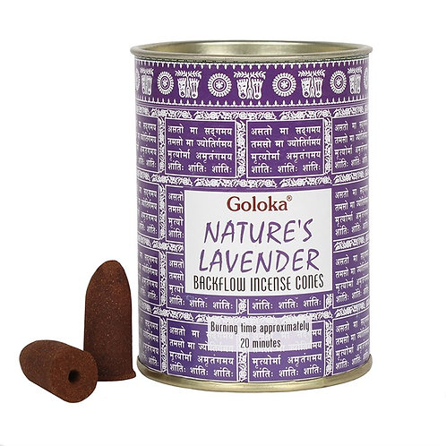 Goloka Lavender Backflow Incense Cones