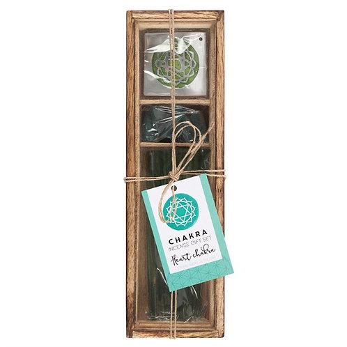 Heart Chakra Wooden Incense Gift Set