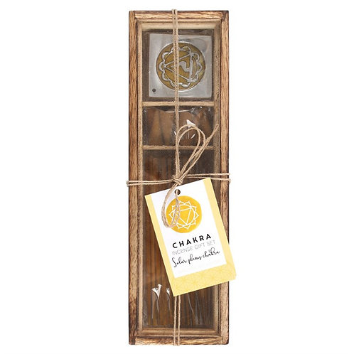 Solar Plexus Chakra Wooden Incense Gift Set