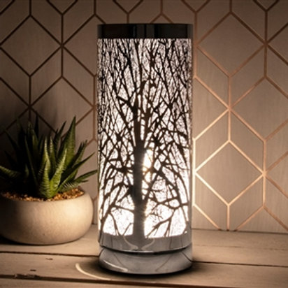 White And Silver Touch Sensitive Aroma Lamp 26cm