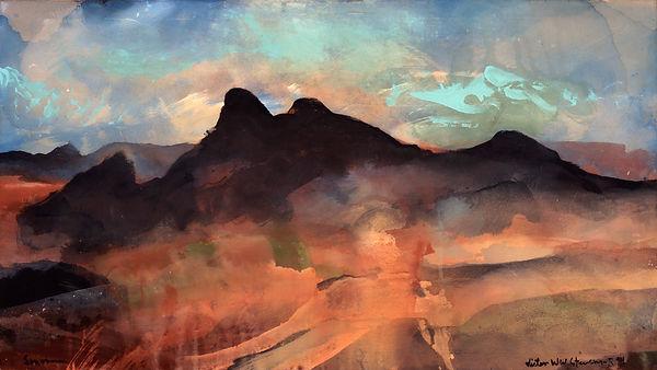 Santa Rita Morning, 1995, Acrylic on canvas, Original SOLD, Giclée prints available